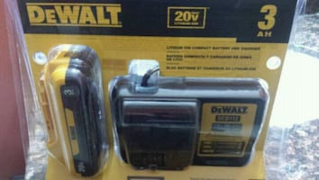 BRAND NEW DEWALT BATTERY AND CHARGER