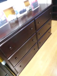 brown wooden 6-drawer dresser 2269 mi