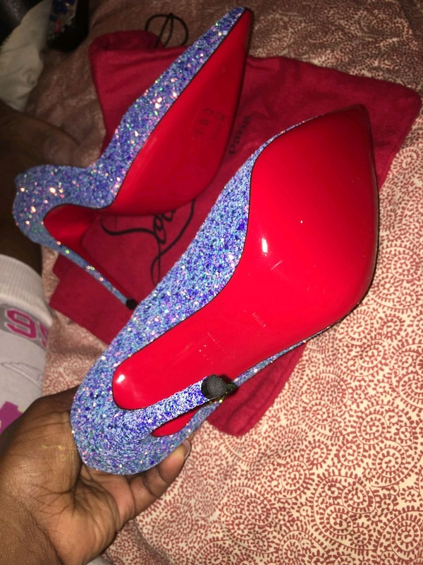 Christian Louboutin 120 GLITTER DRAGONFLY Size 9.5 1