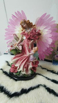 angel in pink dress ceramic flower vase Toronto, M9V 2X5