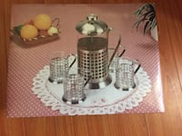 Metal and glass French press coffee set , Brand New! Toronto, M1K 4P8