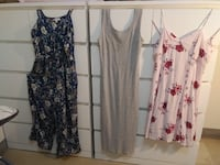 3 Beautiful summer dresses and romper, Great condition !