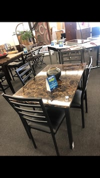 Cute Faux Marble 5pc Dining Set Houston, 77088