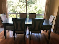 6 seater dining table with glass top Abbotsford, V2T 5R8
