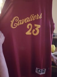red and yellow Cavaliers 23 basketball jersey Franklin, 37067