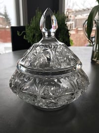 Crystal candy bowl. Vintage Georgetown, L7G 5Y1