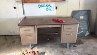 Antique metal desk