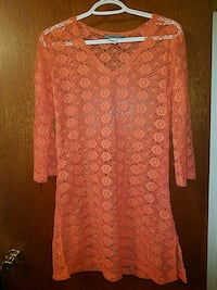 S- Orange seethrough Swimsuit Coverup Clinton, 20735