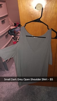 Small Dark Grey off the Shoulder asking $2! Ignore the $5 on photo Joplin, 64801