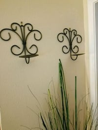 Wrought Iron candle wall Sconce set of 2 Webster, 77598