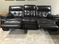 Dark brown leather 3-seat recliner sofa and love seat recliner  Westerville, 43081