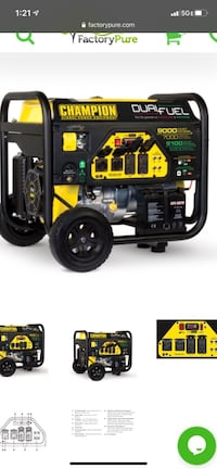Champion duel fuel generator 9000watt