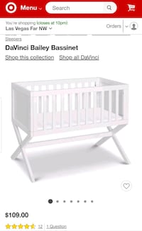 Classic Wooden Bassinet in White