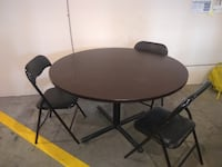 Table and folding chairs