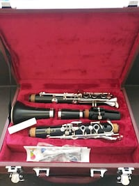 stainless steel clarinet in case Washington, 20010