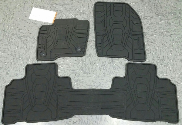 Ford Edge All Weather Floor Mats Blk  Pc