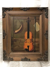 Nice Instrument painting, Oil on canvas, signed W.Manning Springfield, 22153