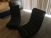 two black leather rolling chairs Phoenix, 85306