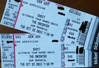 Ghost GA Floor Ticters for Sale $60 for BOTH or B. Liverpool, 13088