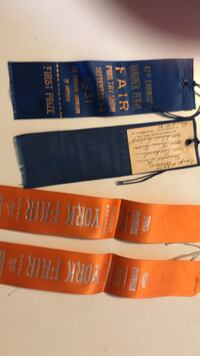 1931 & 1932 Hanover and York fair poultry ribbons Hanover, 17331
