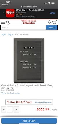 Enclosed reader board with key  Battle Ground, 98606