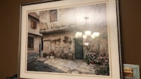 brown wooden framed painting of white and brown house Oakville, L6H 6L1