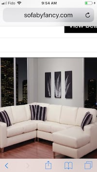 white and black sectional couch Toronto, M9V 4J9