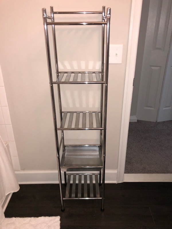 Metal Storage Tower w/ 5 Shelves