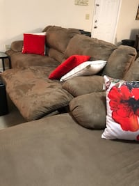 brown suede 3-seat sofa Gainesville, 20155