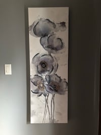 white and gray flower painting Innisfil, L9S 1X5
