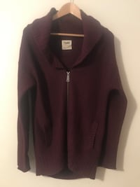 TNA from Aritzia Burgundy Wool Sweater Edmonton, T6R 3J1