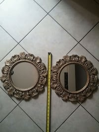 "Gold Wall Mirrors 14"" Aurora"