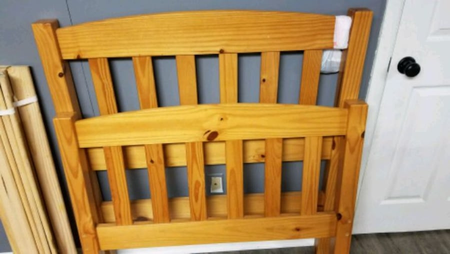 Twin Solid Wood bed frame  5f280f3b-1694-43d4-bb15-60368dceadcb