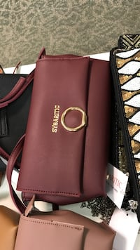 women's maroon leather Sybartic sling bag