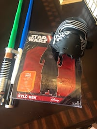 Kylo Ren Star Wars kids costume with voice changer mask and sword.  Corpus Christi, 78404