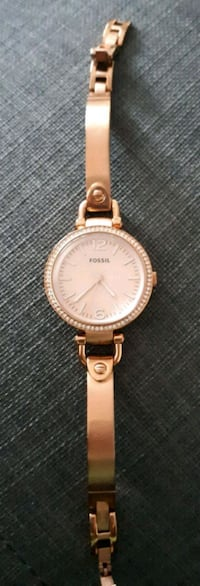 Fossil Georgia Rose Tone Stainless Steel Watch. Price on site is $155 Calgary, T3P 0S1