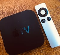 black Apple TV with remote Kenmore, 4069