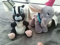 two white and black plush toys Delta, V4C
