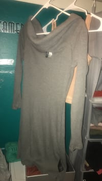 gray scoop-neck long-sleeved dress San Jose, 95133