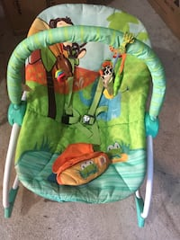 Baby's blue and green bouncer seat Toronto, M6N 2K5