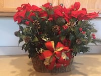 Holiday Floral Arrangement in Woven Twig Basket $18 Lansdowne