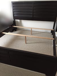 King size bed frame and box spring Oakville, L6M 0P7