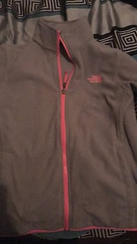 Gray and pink northface jacket Muskegon, 49442