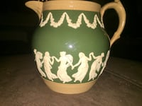 Antique green, white, and beige ceramic pitcher West Hartford, 06110