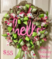 Hello welcome wreath College Station, 77840