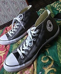 pair of gray-and-white Converse all star high tops Kansas City
