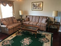 Custom Couches + Coffee Table, 2 X End Tables, 2 X Lamps Columbus
