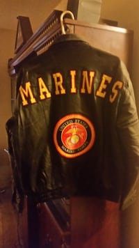 USMC Leather Bomber Jacket null