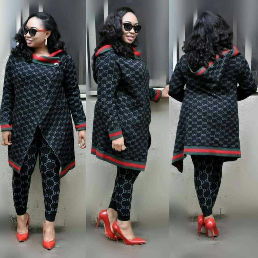 $43.74 Two black and red knitted long sleeve shirts