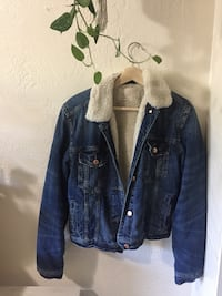 Blue denim and faux fur lined button-up jacket Ashland, 97520